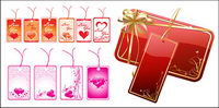 Heart-shaped tag vector material